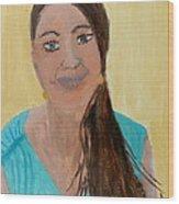 Sweet Lady  Wood Print