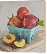 Sweet Nectarines Wood Print