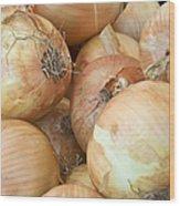 Sweet Onions Nj Grown Wood Print