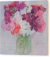 Sweet Peas Wood Print
