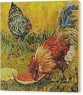 Sweet Pickins, Chickens Wood Print