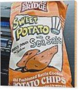 Sweet Potato Chips Wood Print