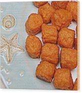 Sweet Potato Puffs Wood Print