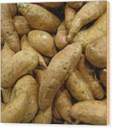 Sweet Potatoes Wood Print