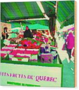 Sweet Ripe Strawberries Petits Fruits Du Quebec Direct From Farmers Market Food Art Carole Spandau  Wood Print
