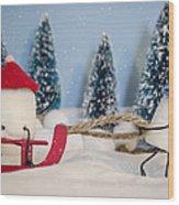 Sweet Sleigh Ride Wood Print