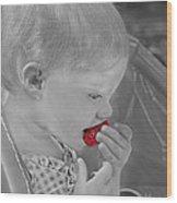 Sweet Strawberry Wood Print