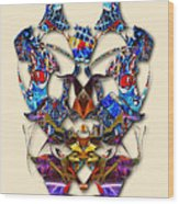 Sweet Symmetry - Flu Bugs Wood Print