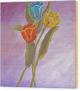 Sweet Tulips Wood Print