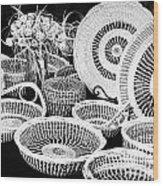 Sweetgrass Baskets Wood Print