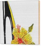 Sweetheart Hibiscus Stiletto Wood Print