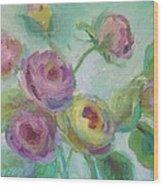 Sweetness Floral Painting Wood Print
