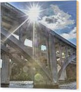 Swift Island Bridge 1 Wood Print