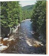 Swift River Below Rocky Gorge New Hampshire White Mountains Wood Print