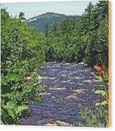 Swift River Mountain View Kancamagus Hwy Nh Wood Print