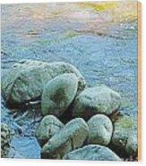 Swift River Rock Kancamagus Highway Nh Wood Print
