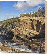 Swiftcurrent Creek Wood Print