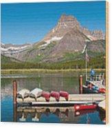Swiftcurrent Lake Wood Print