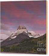 Swiftcurrent Sunrise Wood Print