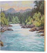 Swiftwater Wood Print
