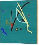 Swim Wood Print by Ann Kipp