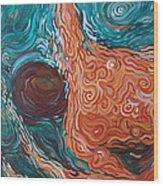 Swimmer Iv Wood Print