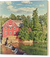 Swimming At War Eagle Wood Print