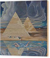 Swimming In That River In Egypt Wood Print