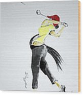 Swing For Hole One Wood Print