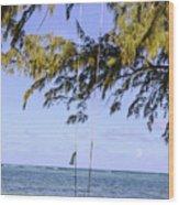 Swing Front Of The Ocean Wood Print