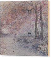Swing In Tree  Wood Print