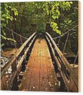 Swinging Bridge Wood Print