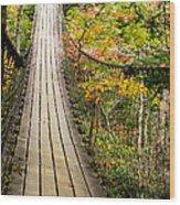 Swinging Bridge Wood Print