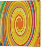 Swirl 80 Wood Print