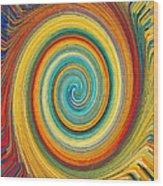 Swirl 82 Wood Print