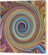 Swirl 85 Wood Print