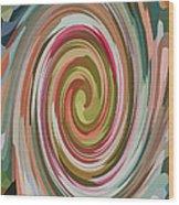 Swirl 92 Wood Print