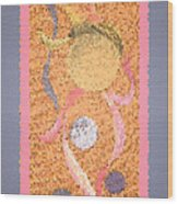 Swirl Body Bubble Person Dancing With Ribbons Twirling Wood Print