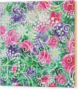 Swirl Dots By Jan Marvin Wood Print