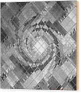 Swirl In A Checkered Mirror V Wood Print