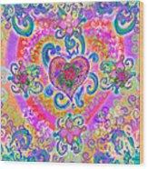 Swirley Heart Variant 1 Wood Print