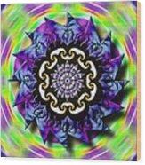 Swirling Crown Wood Print