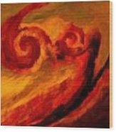 Swirling Hues Wood Print