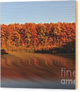 Swirling Reflections With Fall Colors Wood Print by Dan Friend