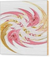 Swirling Roses Abstract  Wood Print