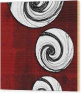 Swirling Round Wood Print