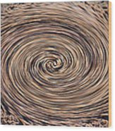 Swirling Sand Wood Print