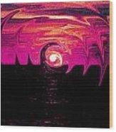Swirling Sunset In Fuchsia  Wood Print