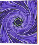 Swirls Of Blue Wood Print