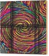 Swirly Bird Wood Print by Michelle Ressler